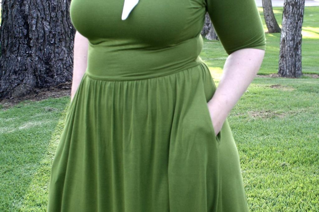 Green Moneta Dress Mint Green Sewing Machine