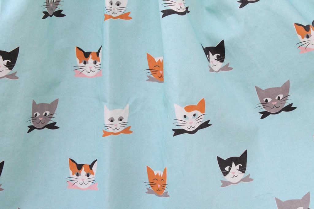 Cat Lady Sewing Challenge Dress Spoonflower Mint Green Sewing Machine