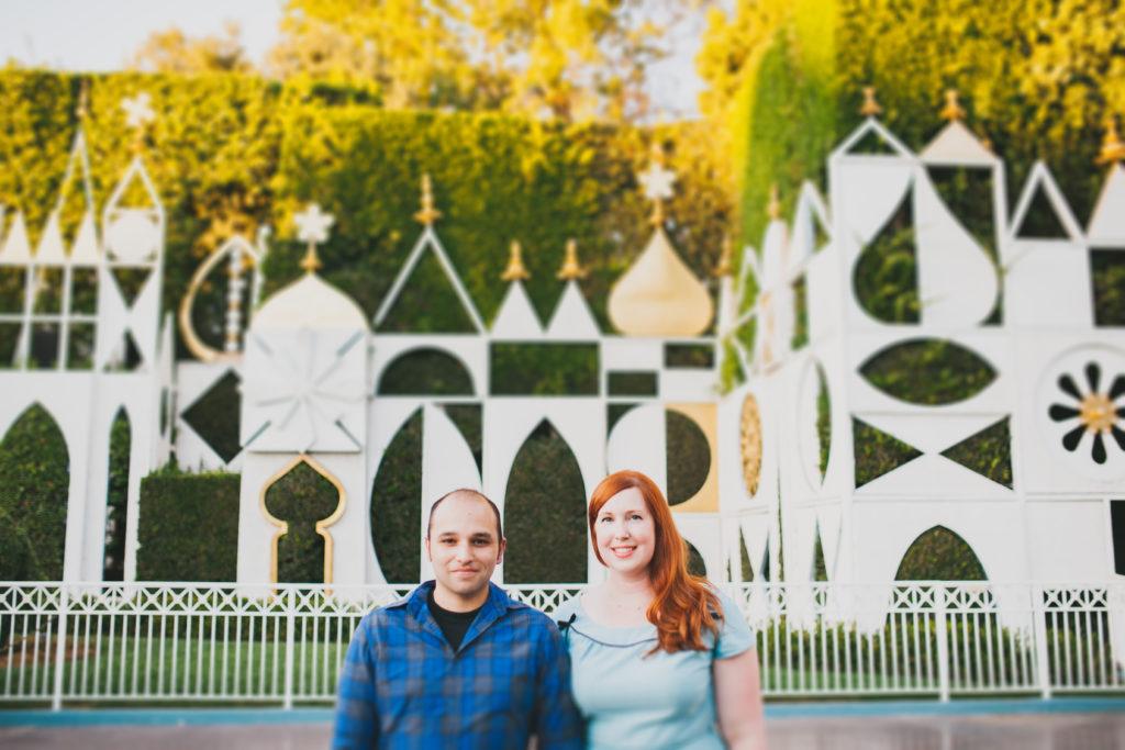 Disneyland Engagement Photos Plum Jam Photography Mint Green Sewing Machine