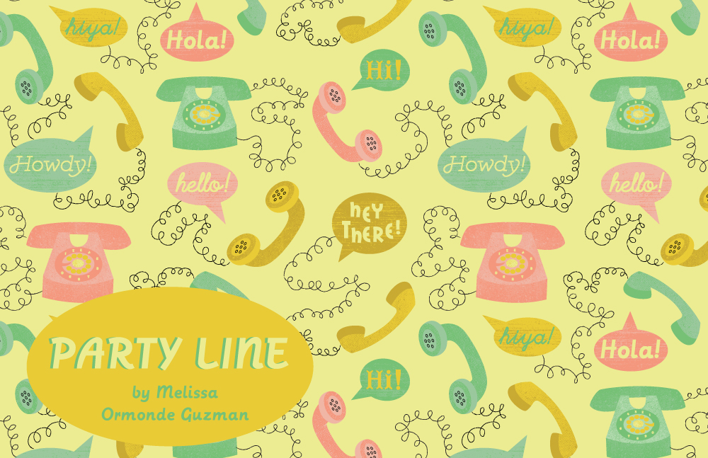 Melissa Ormonde Guzman Surface Pattern Design Party Line Rotary Telephones