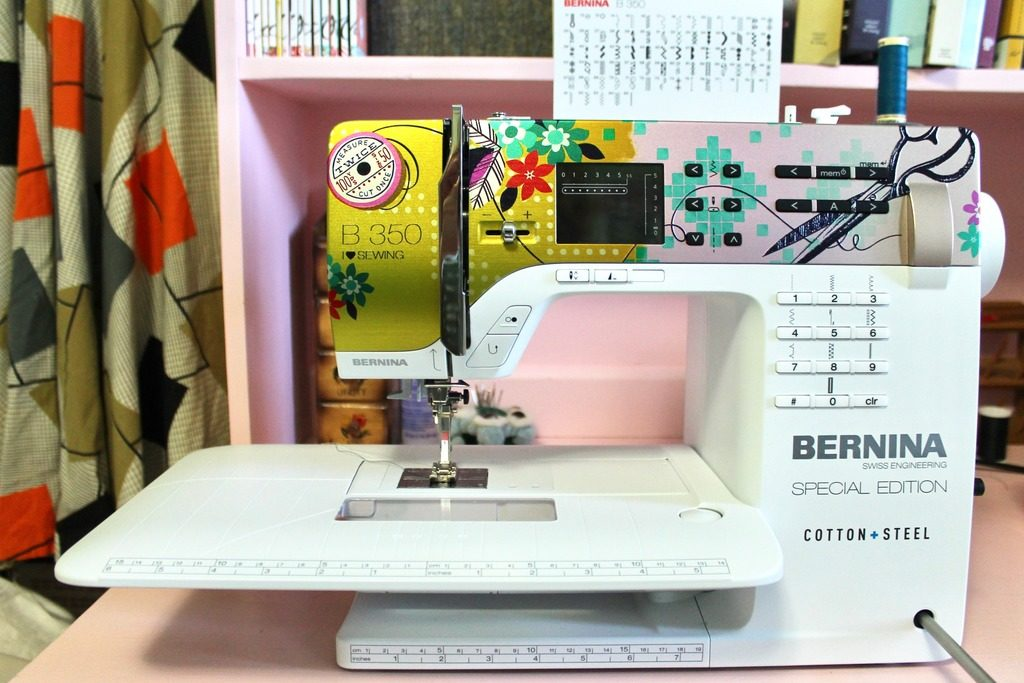 Bernina 350 Cotton + Steel Special Edition Mint Green Sewing Machine