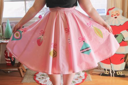 Retro Ornament Circle Skirt